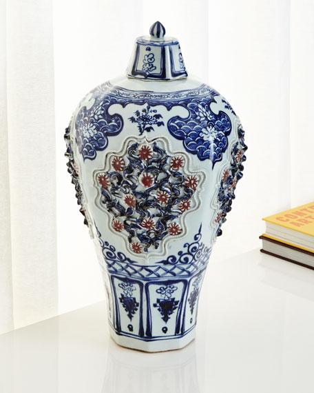 Floral Hex Jar