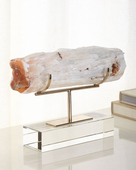 John-Richard Collection Gallery-Displayed Selenite Log