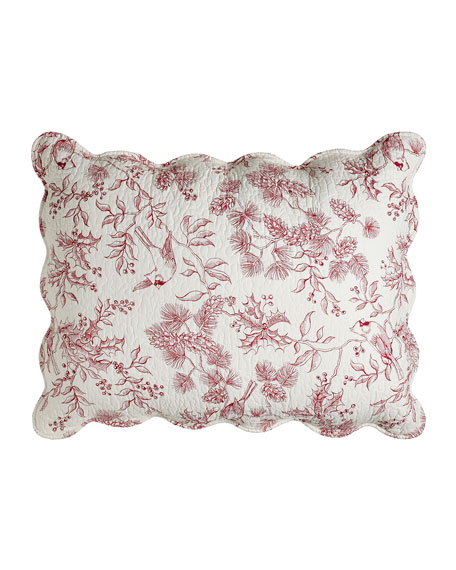Standard Evergreen Toile Sham