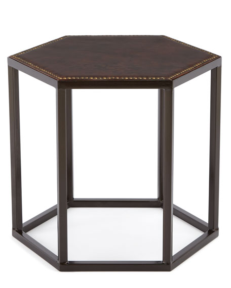 Ralston Leather Side Table