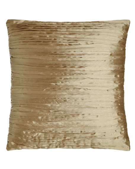 "Pleated Pillow, 18""Sq."
