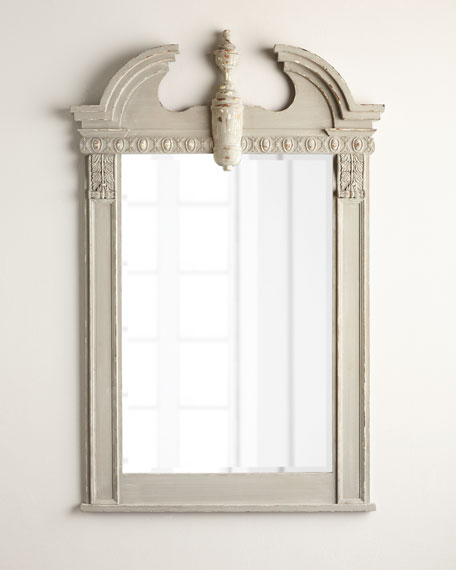 Distressed Antiqued-Gray Mirror
