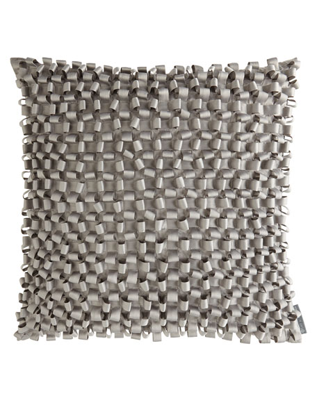 S & S Pewter Ribbon Pillow