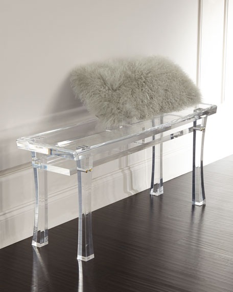 Interlude Home Jacinda Acrylic Bench
