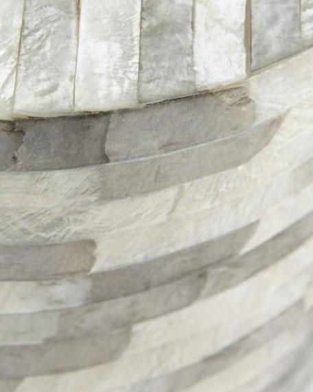 Capiz Stripe Barrel Stool