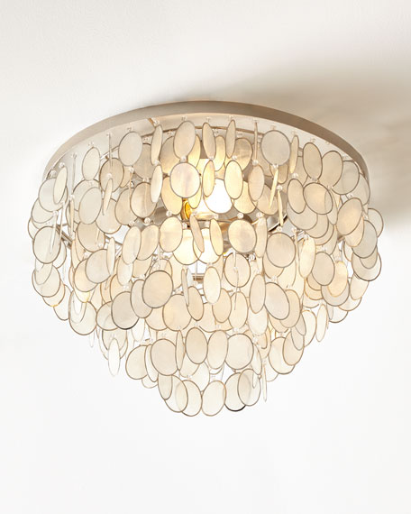Aurora flush mount ceiling fixture for Shell ceiling light fixtures