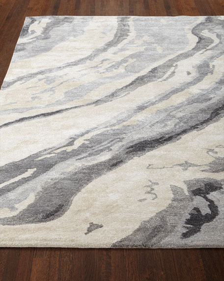 Gray Marble Rug, 5' x 8'