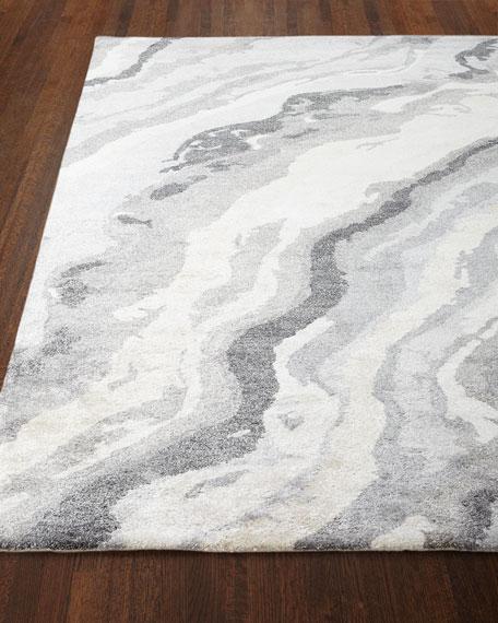 Gray Marble Rug, 8' x 11'