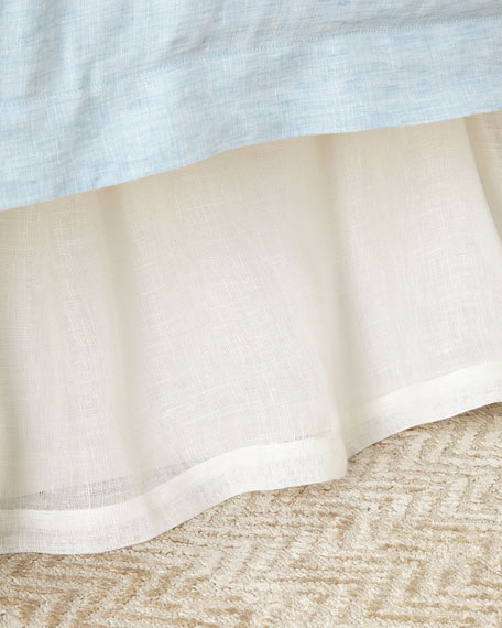 Queen Harper Linen Voile Dust Skirt
