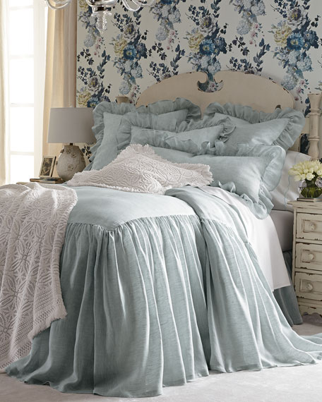 Captivating Pine Cone Hill King Savannah Skirted Coverlet