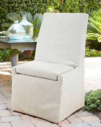 Beige Bennett Outdoor Dining Chairs
