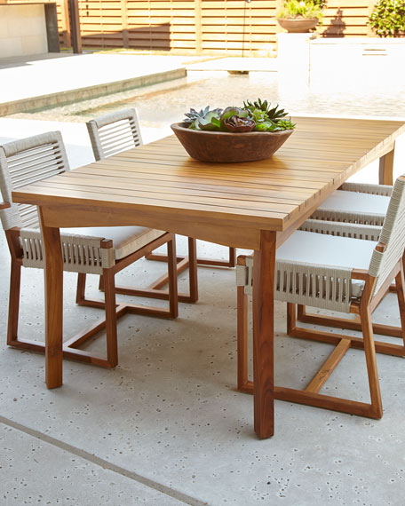 Palecek San Martin Teak Outdoor Dining Furniture - Teak outdoor dining table