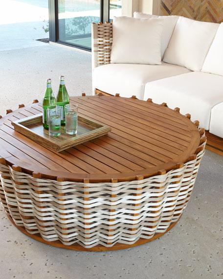 Wood St Martin Coffee Table: Palecek San Martin Coffee Table