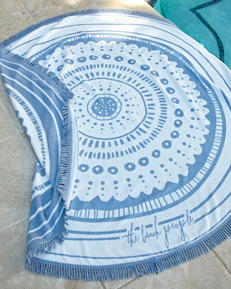 Wategos Round Beach Towel