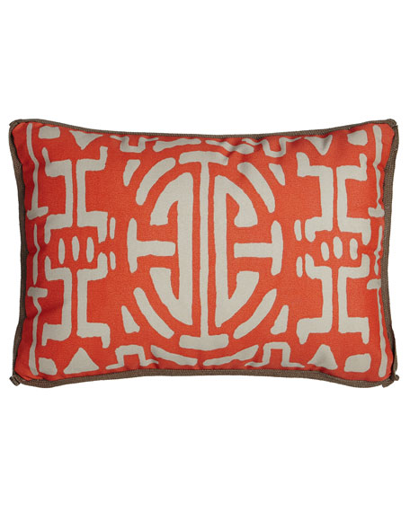 Medallion Outdoor Lumbar Pillow