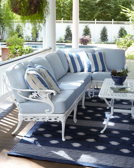 Day Lily Right-Arm Outdoor Chair