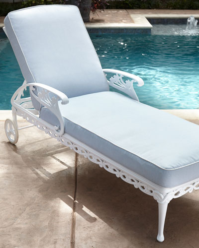 Day Lily Adjustable Outdoor Chaise with Wheels
