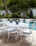 Day Lily Oval Outdoor Dining Table