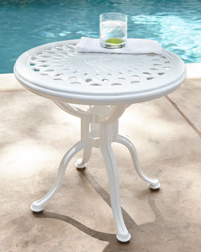 Day Lily Round Outdoor Occasional Table - Outdoor Furniture : Garden Bench & Outdoor Sofa At Neiman Marcus Horchow