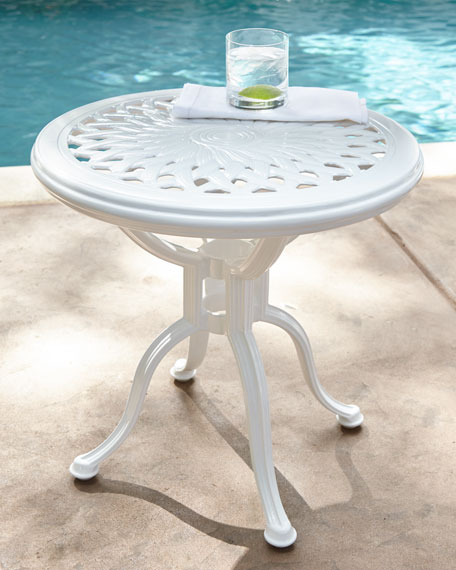 Day Lily Round Outdoor Occasional Table