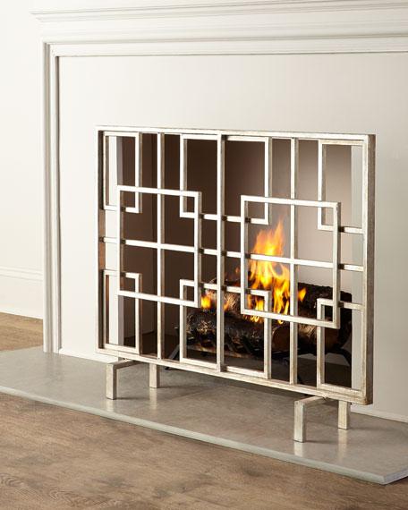 Dessau Brass Dominic Fireplace Screen