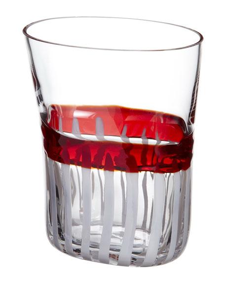 Bora Drinking Glass, Red/White