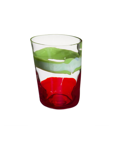 Bora Drinking Glass, Red/Green