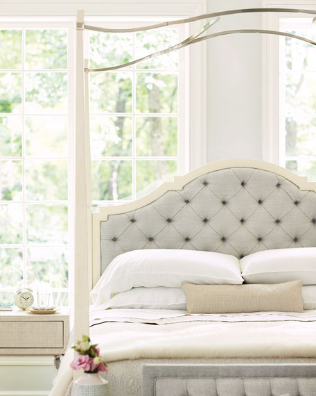 Natalie King Tufted Canopy Bed