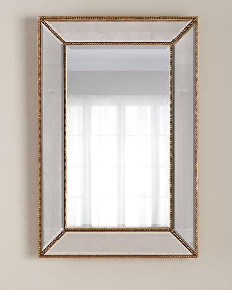Goldtone Beaded Mirror