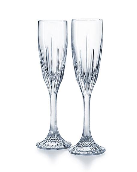Baccarat Jupiter Champagne Flutes, Set of 2