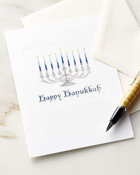 Happy Hanukkah Embossed Cards with Envelopes, Set of 10
