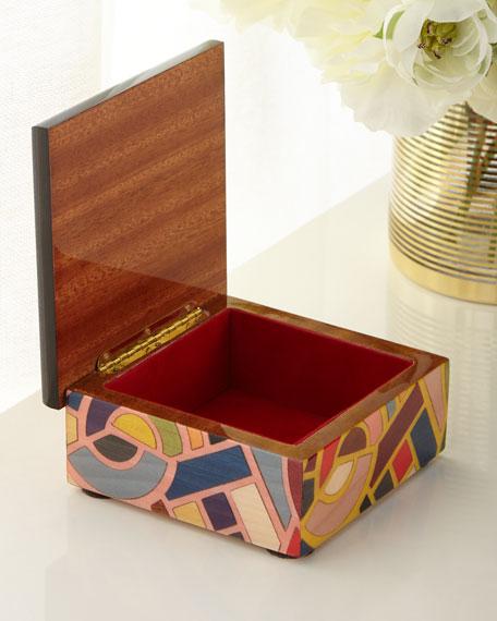 Multicolor Inlaid Wood Box