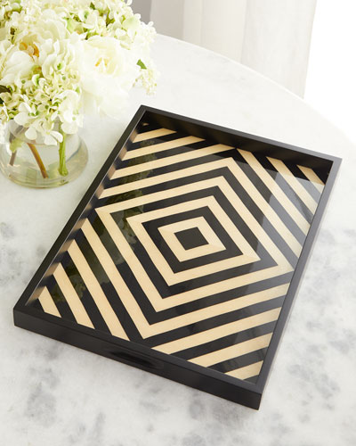 Black & White Lacquered Tray