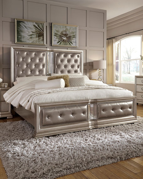 Charmant Vivian Tufted California King Bed