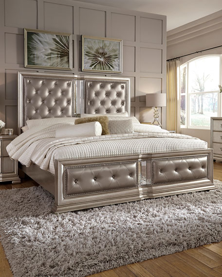 Vivian Tufted Queen Bed