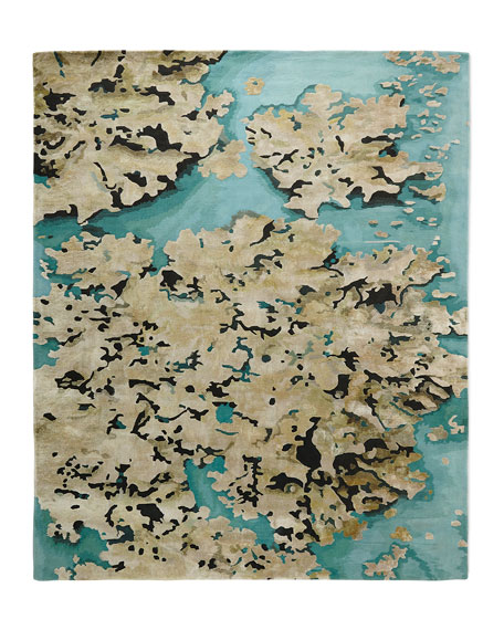"""Prism Sky Abstract Rug, 3'9"""" x 5'9"""""""
