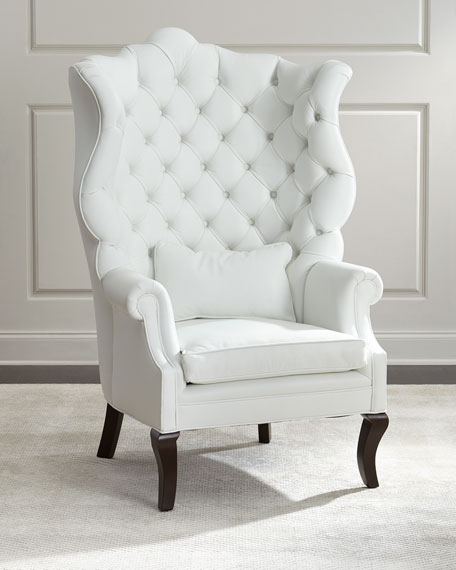 Pantages Leather Wing Chair