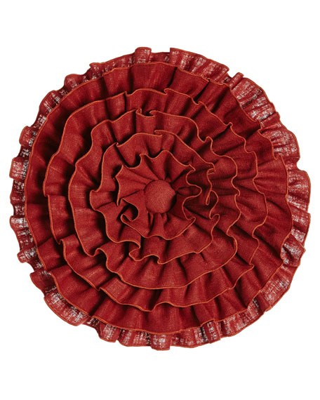 Fresco Round Ruffle Pillow