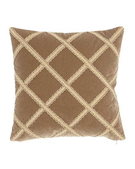 """Renaissance Velvet Pillow, 20""""Sq."""