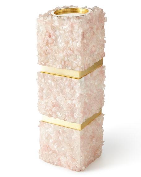 Pink Quartz Medium Candleholder