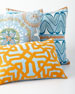 Ikat Light Blue Pillow