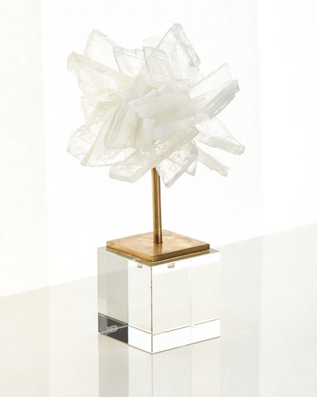 John-Richard Collection Small Selenite Blossom on Stand