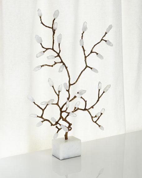 Quartz Crystal Branch Sculpture