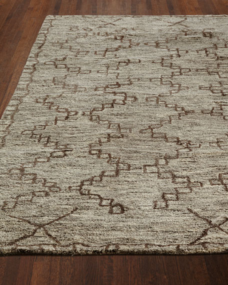 Chain Locked Hand Tufted Rug, 2' x 3'