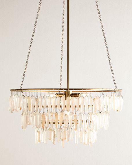 Quartz Drop 4-Light Chandelier