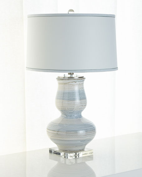 Striped Ceramic Lamp