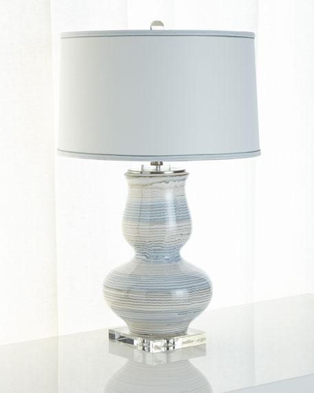 Striped Ceramic Lamp