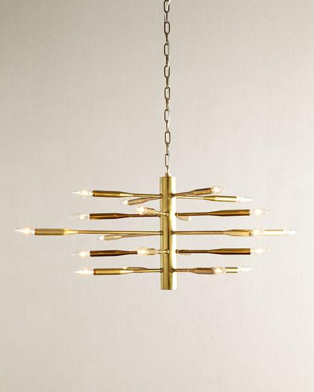 Antiqued Brass Sputnik Chandelier
