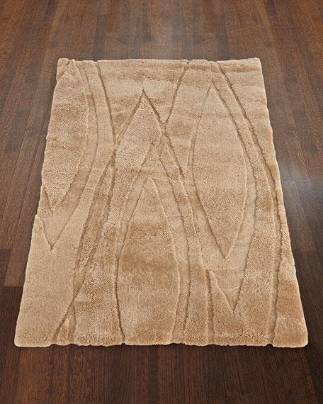 "Lavonne Wool Sheepskin Rug, 5' x 8'6"""