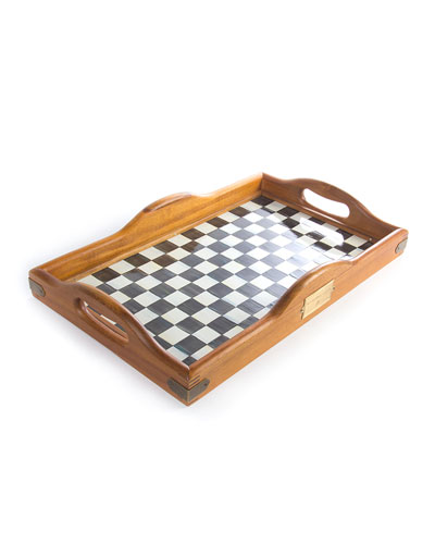 Courtly Check Hostess Tray, Large